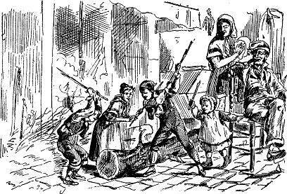 nens fent cagar el tió